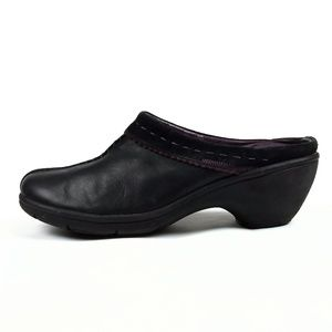 Privo by Clarks Black Leather Clog Mules 8M
